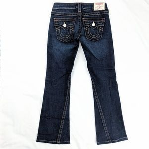 True Religion Joey Dark Wash Wide Leg Jeans